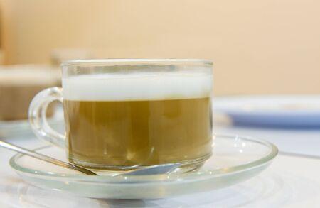 capuchino: cup of capuchino coffee close-up