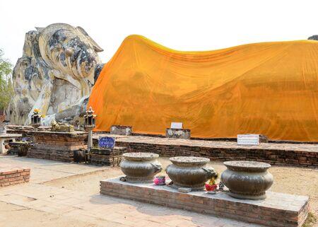 old big statue buddha on sky background, thailand Stock Photo
