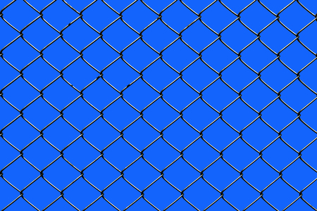 Wired fence on a sky background.