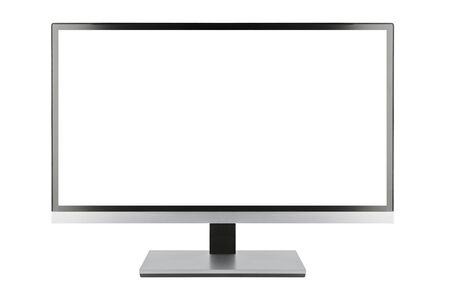 flat screen tv: Modern blank flat screen TV set, isolated on white background