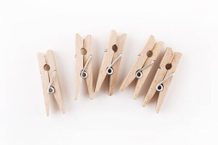pegs: Clothes Pegs on White Background
