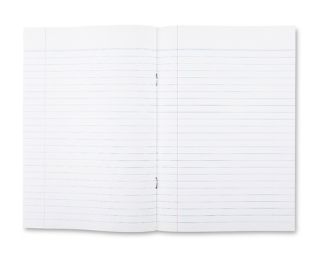 college ruled: Notebook Lined Paper and Texture Stock Photo