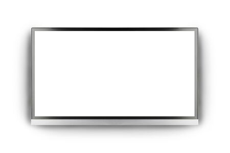 flat screen: Modern blank flat screen TV set, isolated on white background
