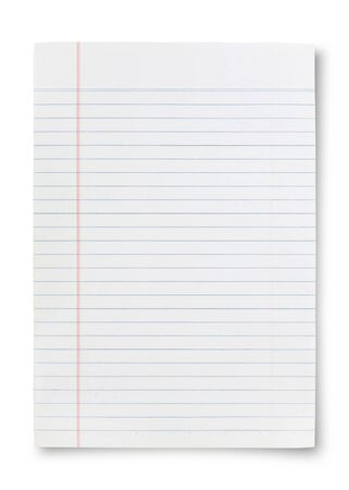 college ruled: Notebook Lined Paper Background Or Texture