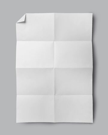 crumpled: Empty white Crumpled paper on grey background