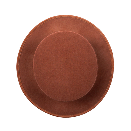 man made object: Top view hat isolated on white background