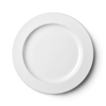 dish disk: Empty plate. Isolated on white background.