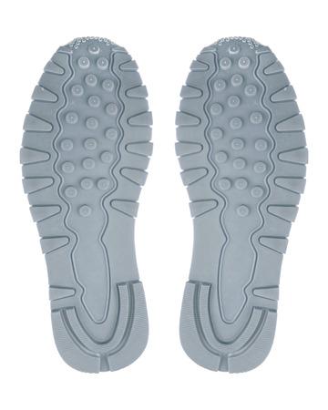Bottom of shoes, isolated on white background.