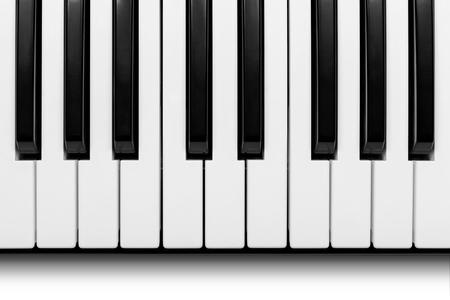 Piano keys viewed from above Фото со стока