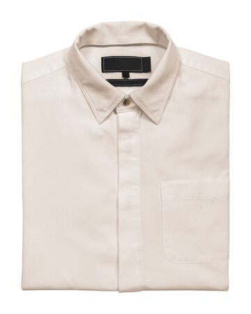 Rose gold shirt on a white background with clipping path