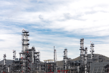 Oil and gas industry,refinery,petrochemical plant  Imagens