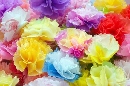craftwork: Colorful paper craftwork of flowers
