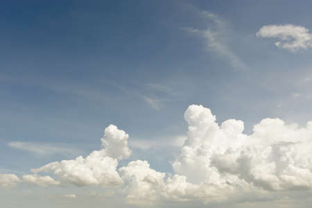 shiny day: Clear blue sky with white cloud sky on a summer shiny day Stock Photo