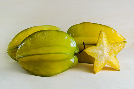Star apple fruit (Also known as Carambola, starfruit, Averrhoa apple carambola, Bilimbi, Arkin in Florida, Dah Pon, Ma fueng, Maha in Malaysia, Demak, Golden Star, Newcomb, Star King, Golden star)