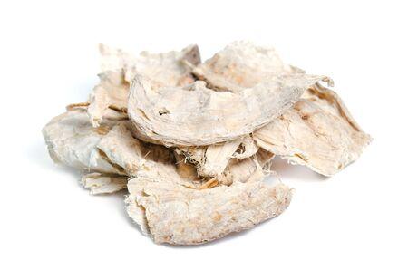 Pueraria mirifica or White Kwao Krua (Pueraria candollei Graham ex Benth. Var mirifica) isolated on white Stock Photo