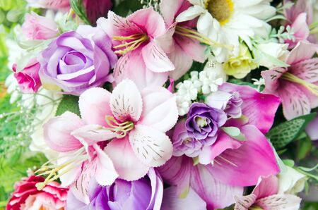 bunch of hearts: Flowers bouquet arrange for decoration in home Stock Photo