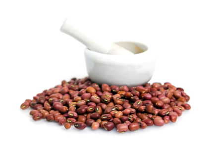 haricot: Kidney beans (Also named as Phasecolus vulgaris bean, green bean, or red beans) isolated on white