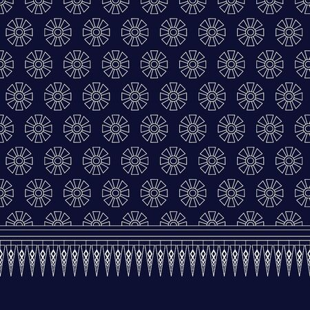 abstrakcje: Geometric Ethnic pattern design for background or wallpaper. Ilustracja