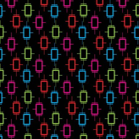 Geometric pattern design for background or wallpaper. Illustration