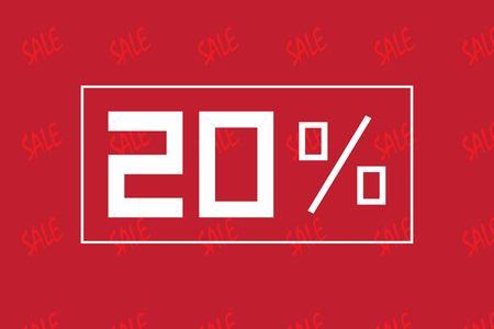 selloff: Sale percents. Vector.