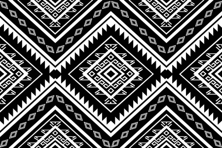 Geometric Ethnic pattern design for background or wallpaper. Иллюстрация
