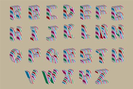 10eps: Vector abstract alphabet  10eps Illustration