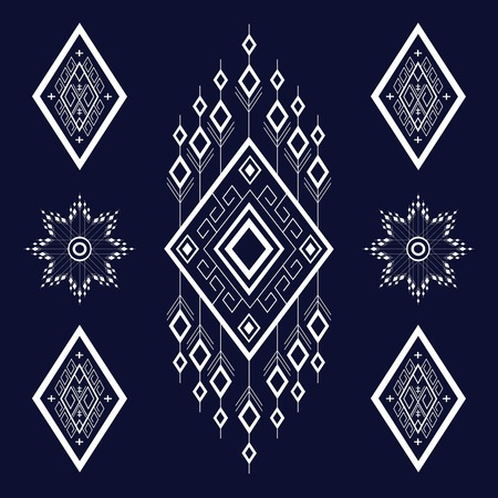 Geometric Ethnic pattern design for background or wallpaper. Illustration