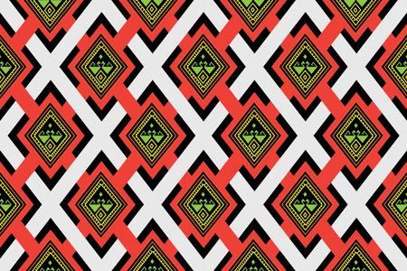 sarong: Ethnic pattern. Geometric pattern. Ethnic background pattern, Ethnic wallpaper pattern, Ethnic clothing pattern, Ethnic wrapping pattern.Geometric Ethnic pattern design for background or wallpaper. Illustration