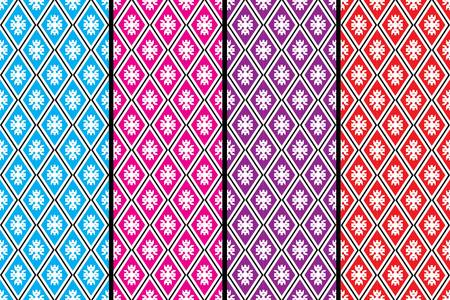 sarong: Geometric Ethnic pattern design for background,carpet,wallpaper,clothing,wrapping,Batik,fabric,Vector illustration.embroidery style.