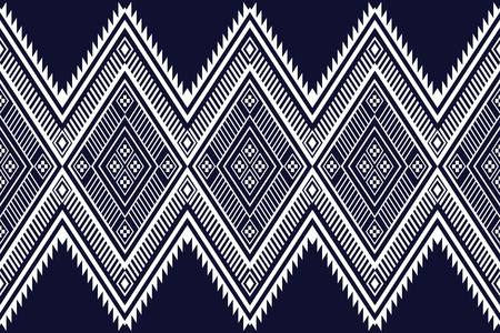 sarong: Geometric ethnic pattern traditional Design for background,carpet,wallpaper,clothing,wrapping,Batik,fabric,sarong,Vector illustration embroidery style. Illustration