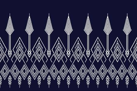 Geometrisch etnisch patroon traditioneel ontwerp voor achtergrond, tapijt, behang, kleding, verpakking, batik, stof, sarong, vectorillustratie stijl van het illustratieborduurwerk.