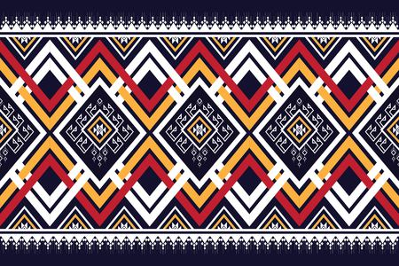 Geometric ethnic pattern traditional design for background vector illustration embroidery style.