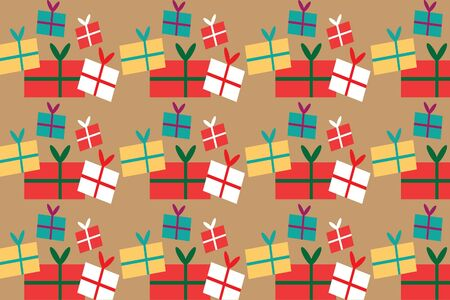 Gift pattern design for background,wallpaper,clothing,wrapping,Batik,fabric,Vector illustration style. 向量圖像