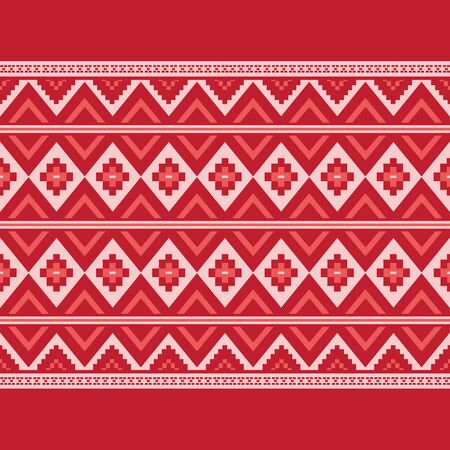 Geometric ethnic pattern traditional Design for background,carpet,wallpaper,clothing,wrapping,Batik,fabric,sarong,Vector illustration embroidery style. 向量圖像