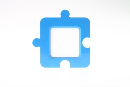 Jigsaw-Shape Photo Frame in Blue photo