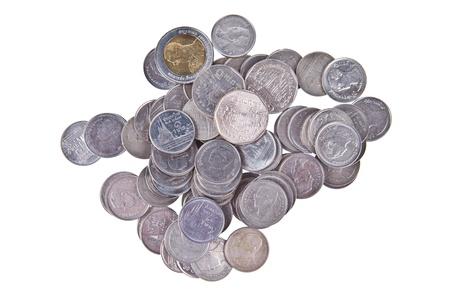 Thai Baht coins Stock Photo - 9558690