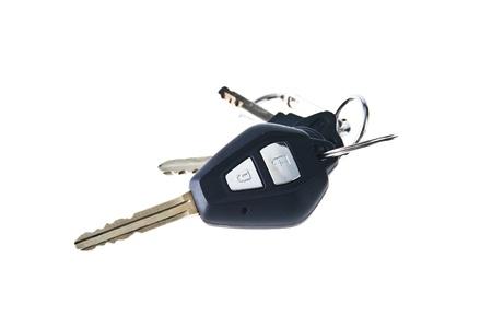 Isolated Car Keys on white background photo