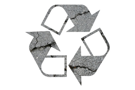 Recycled Symbol on White Background Stock Photo - 9558601