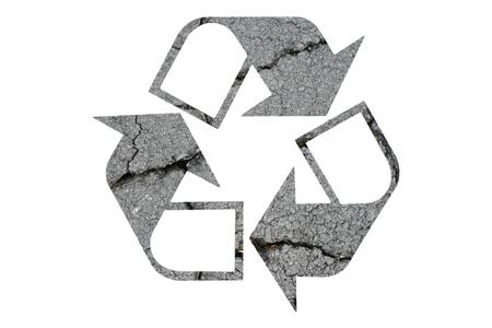 Recycled Symbol on White Background Stock Photo - 9558601