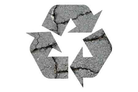 Recycled Symbol on White Background Stock Photo - 9558791