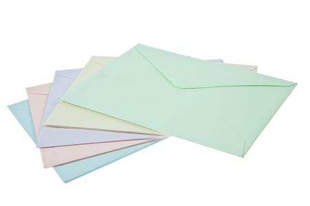 envelops: Colorful Envelops Stock Photo
