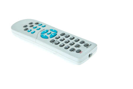 Old TV Remote Control with dust isolated on white background photo