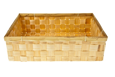 Wicker Box isolated on white background Stock Photo - 9862727