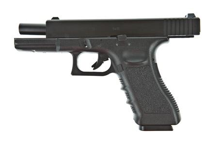 airsoft gun: Airsoft hand gun, glock model Stock Photo