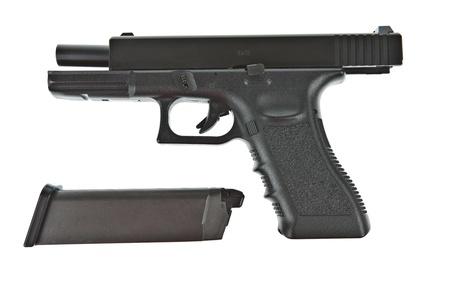 bb gun: Airsoft hand gun and magazine, glock model