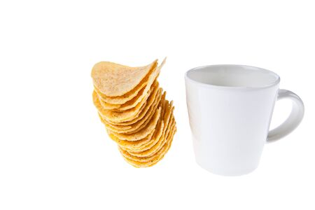 titbits: Coffee cup withe snack