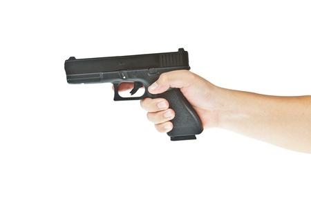 glock: Airsoft hand gun, glock model with hand aim the target