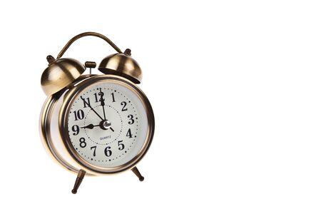 Alarm clock isolated on white background photo