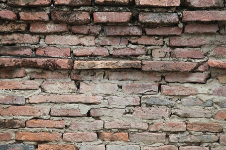 Old bricks wall in a temple in Thailand photo