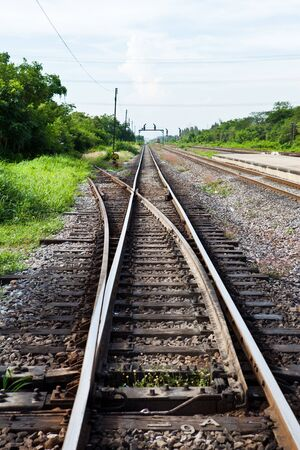 Separated Railway Track Stock Photo - 9860019